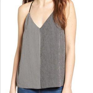 Socialite Black-White Stripe Camisole